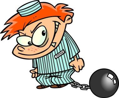 Cartoon Boy Prisoner