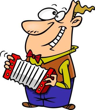 Cartoon Accordion Player