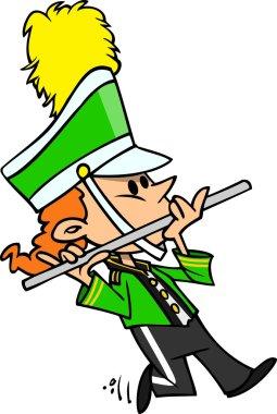Cartoon Marching Band Girl