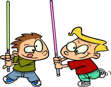 Cartoon Light Saber Fight