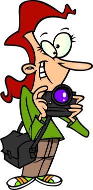 Cartoon Female Photographer