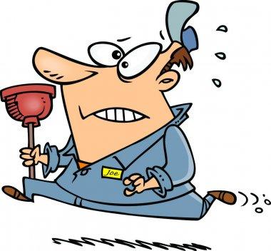 Cartoon Plumber