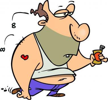 Cartoon Fat Ugly Man