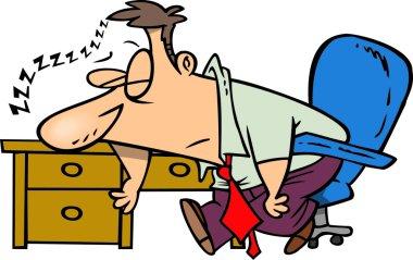 Cartoon Businessman Sleeping