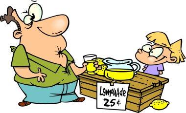 Cartoon Sour Lemonade