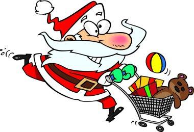 Cartoon Santa Shopping stock vector