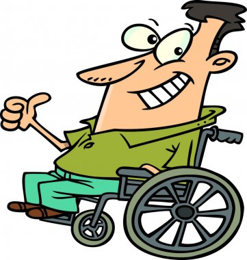 Cartoon Wheelchair Optimist