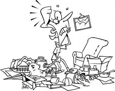 Cartoon Cluttered House