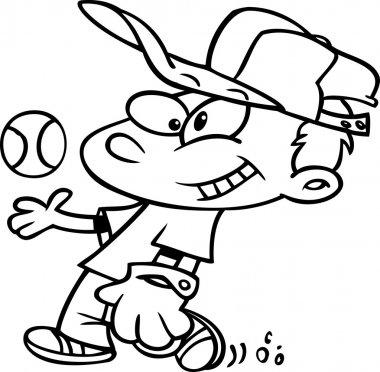 Cartoon Baseball Boy