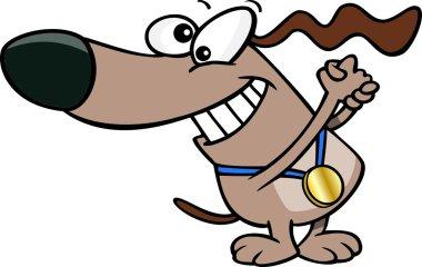 Cartoon Dog Champion