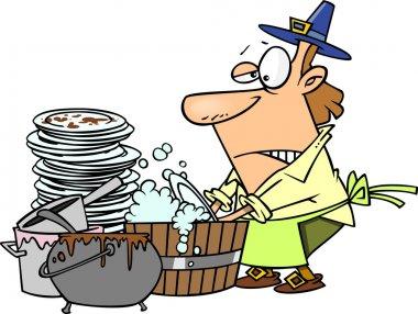 Cartoon Thanksgiving Dishes