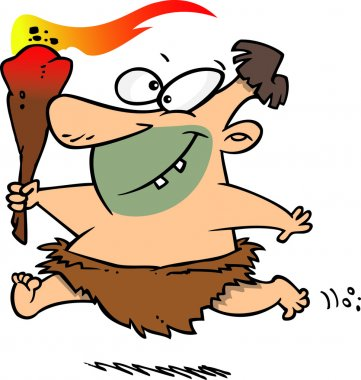 Cartoon Caveman Torch