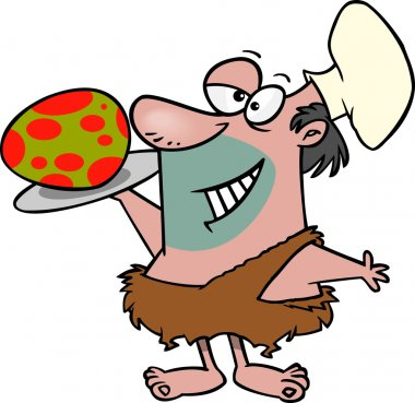 Cartoon Caveman Chef