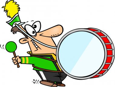 Cartoon Marching Band Drum