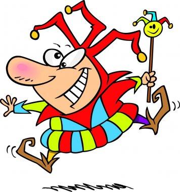 Cartoon April Fool's Jester