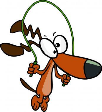 Cartoon Dog Jumping Rope