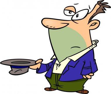 Cartoon Beggar Man