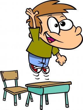 Cartoon Eager Student