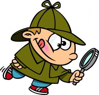Cartoon Young Sherlock Holmes