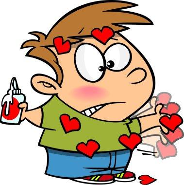 Cartoon Valentines Day Boy