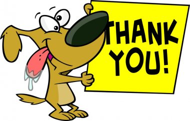 Cartoon Dog Thank You Sign