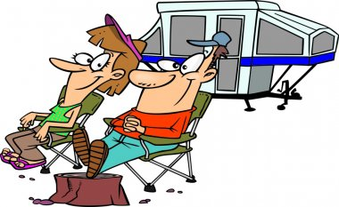 Cartoon Camper Trailer