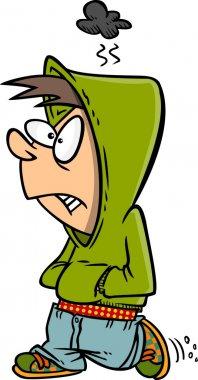 Cartoon Surly Teenager