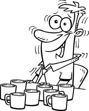 Cartoon Man Alertness