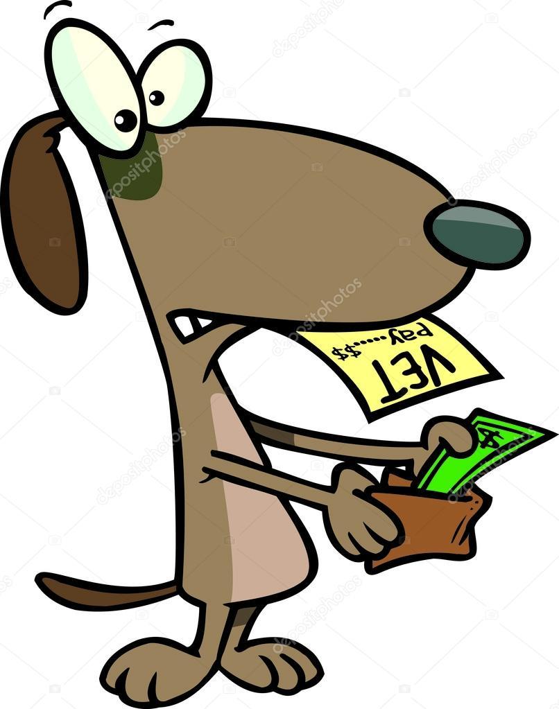 Cartoon Tierarzt Rechnung Stockvektor C Ronleishman 13980363