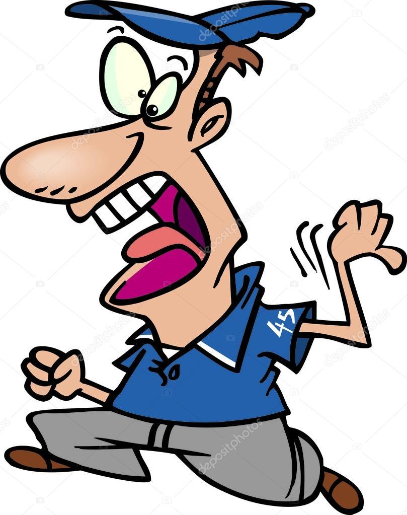 Cartoon Baseball Umpire Stock Vector Ronleishman 13980404