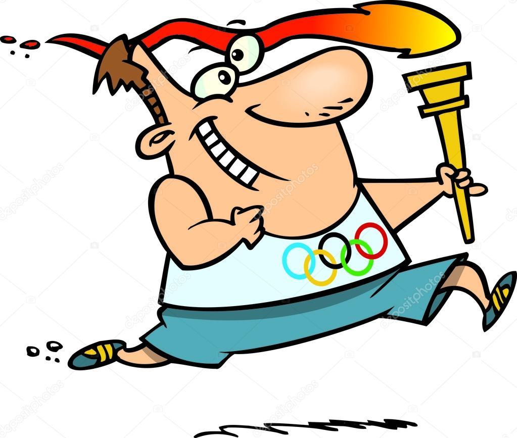 Flamme olympique de dessin anim image vectorielle - Flamme olympique dessin ...