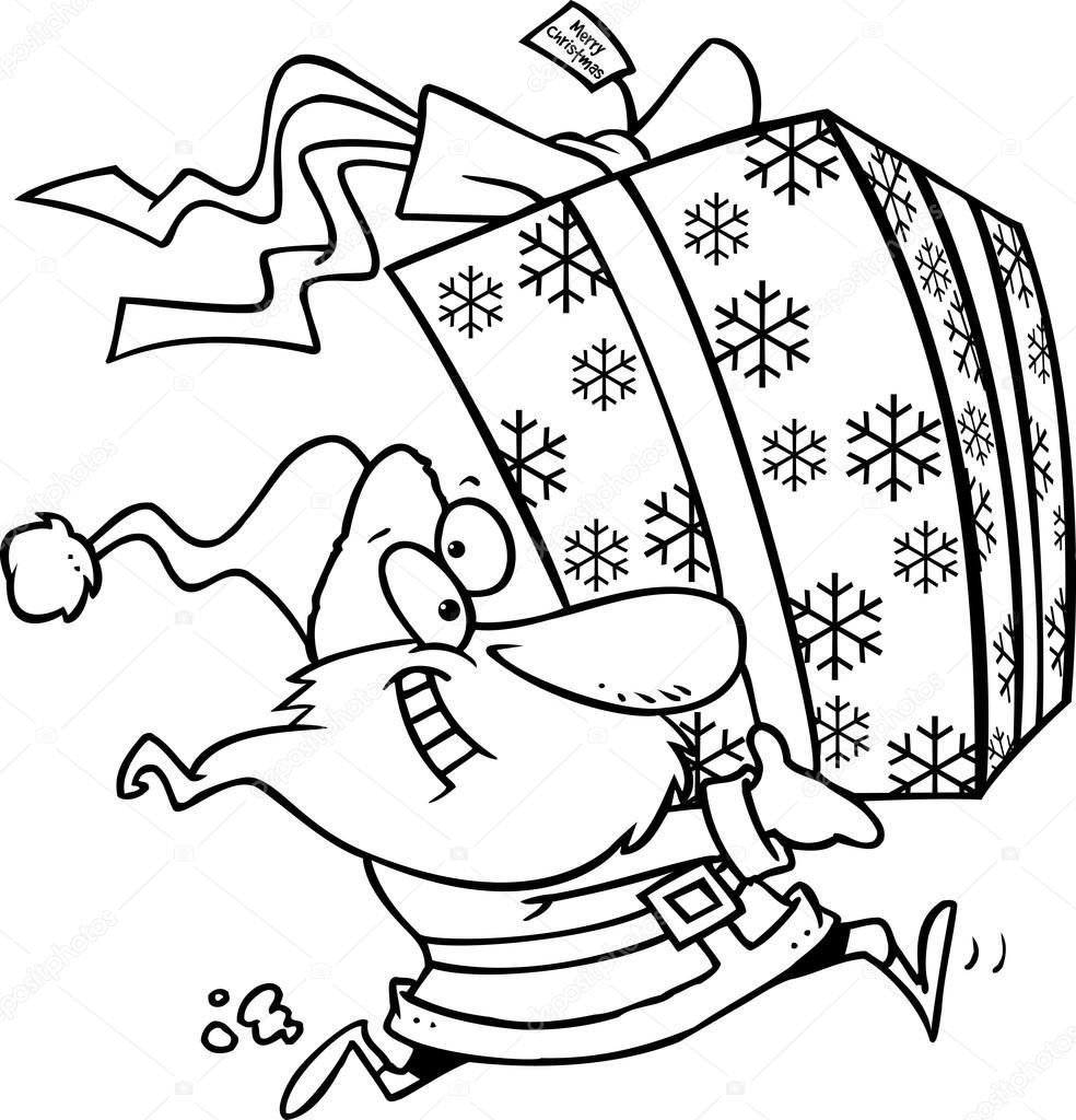 Cartoon großes Weihnachtsgeschenk — Stockvektor © ronleishman #13980945