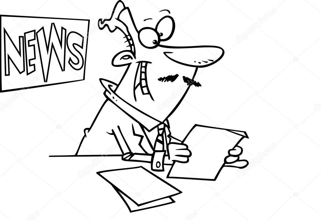 Animado: presentador | presentador de noticias de dibujos animados ...