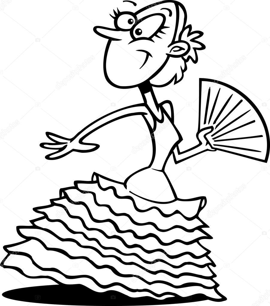 bailarina de flamenco de la historieta — Archivo Imágenes ...