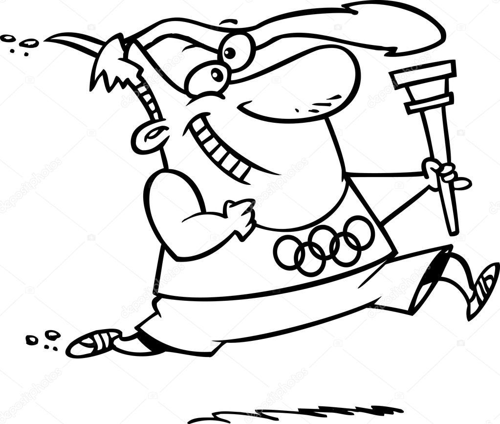 Tocha ol mpica dos desenhos animados vetor de stock - Flamme olympique dessin ...