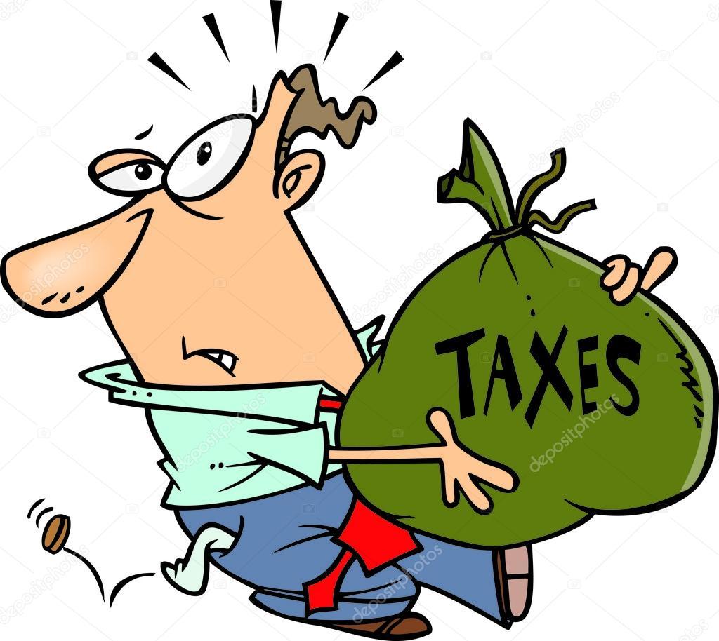 cartoon man with tax burden stock vector ronleishman 13982927