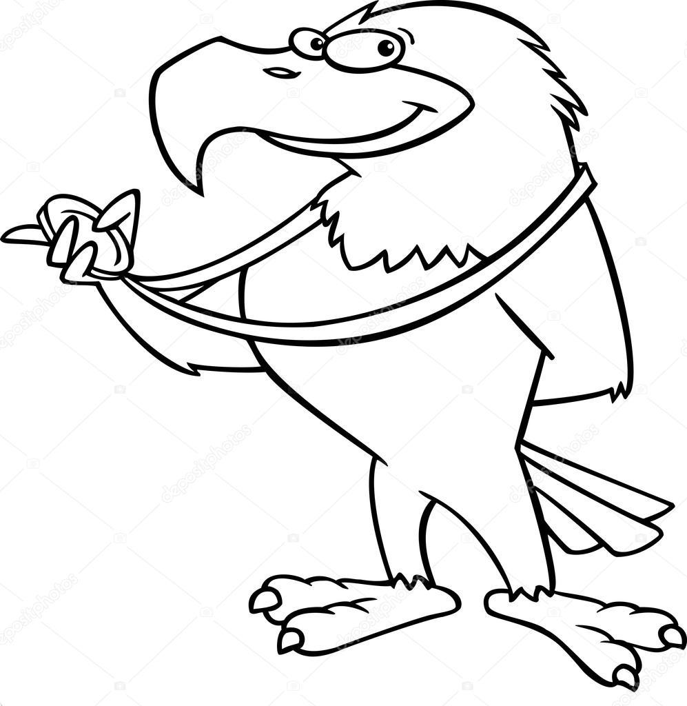 Illustration art lignes noires et blanches dun dragon cartoon couvrant ses yeux avec sa queue vecteur par ronleishman