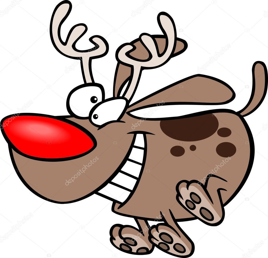 Cartoon Weihnachten Rudolph-Hündchen — Stockvektor © ronleishman ...