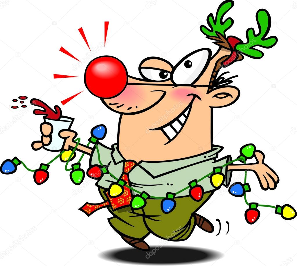 Weihnachtsfeier Cartoon.Cartoon Weihnachtsfeier Stockvektor Ronleishman 13983688