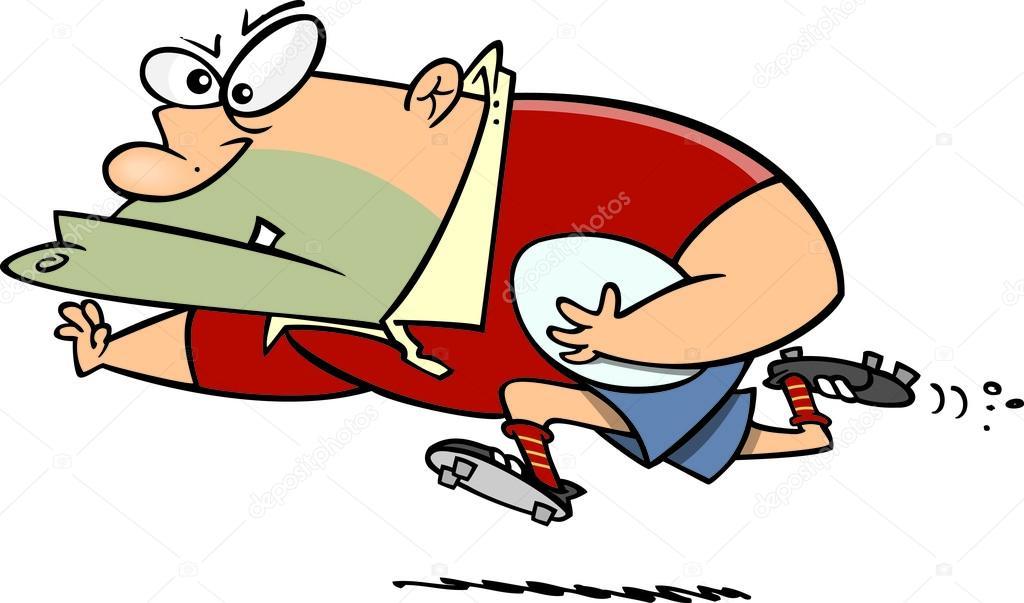Joueur de rugby de dessin anim image vectorielle ronleishman 13984056 - Dessin de joueur de rugby ...