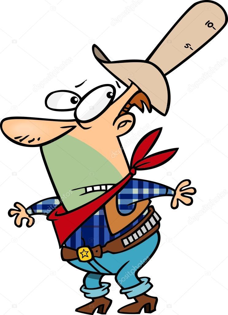 Cappello da dieci galloni di cartone animato cowboy
