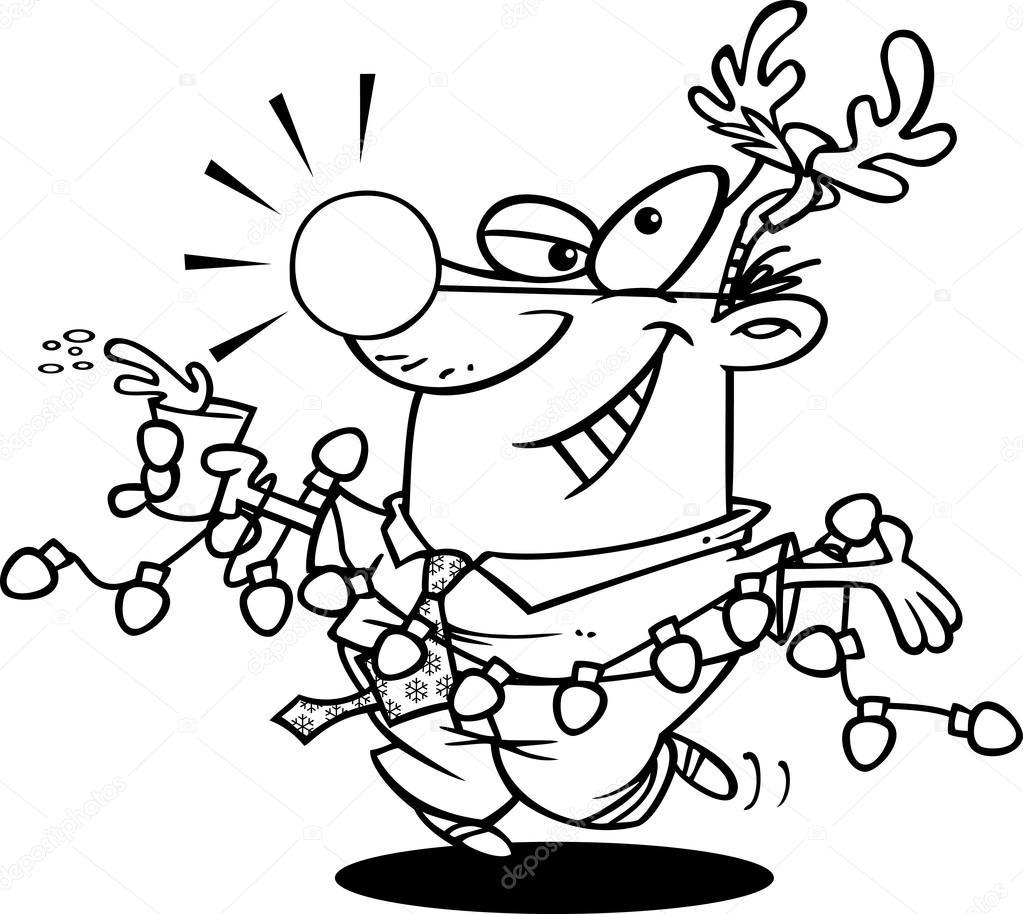 Cartoon Christmas Party — Stock Vector © ronleishman #13984351