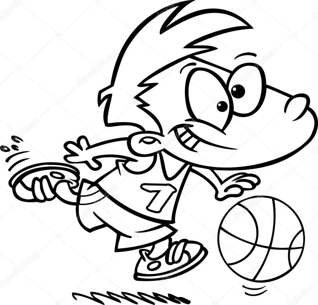 Kresleny Basketbal Chlapec Stock Vektor C Ronleishman 13984397