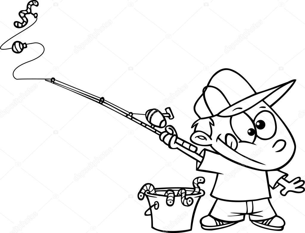 Kreslene Chlapce Rybareni Stock Vektor C Ronleishman 13984540