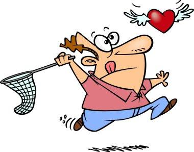 Cartoon Elusive Love stock vector