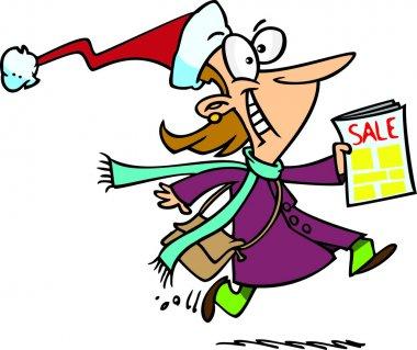 Cartoon Christmas Sale stock vector