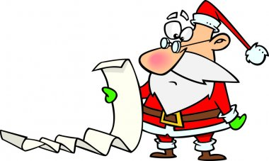 Cartoon Christmas List