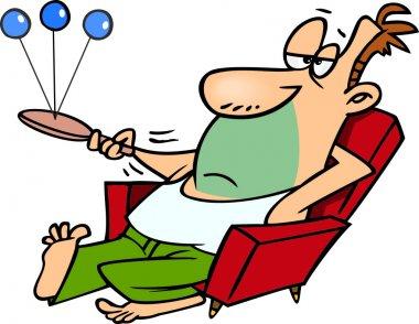 Cartoon Lazy Man