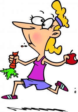 Cartoon Diet and Exercise