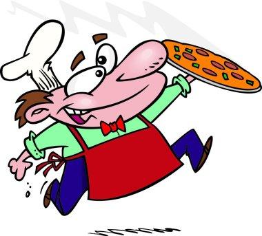 Cartoon Pizza Chef